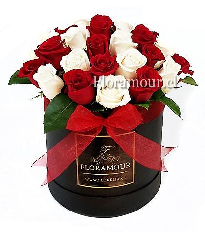 Embleme - Caja Redonda con 40 rosas Extra