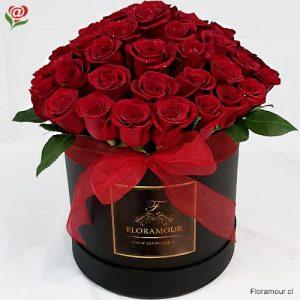 Caja redonda tambor Dynasty 51 rosas Premium