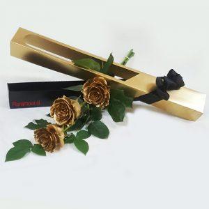 Caja rosas doradas